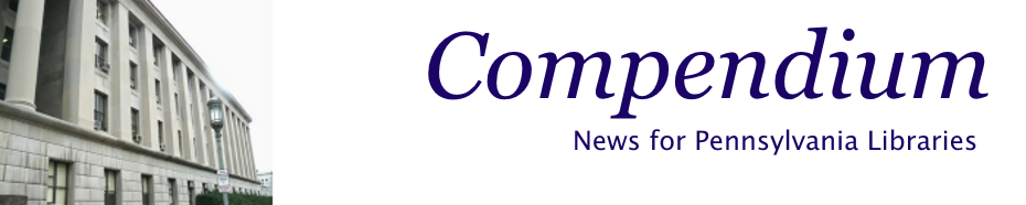 Banner image for Compendium: News from Commonwealth Libraries with photo of Office of Commonselath Libraries building