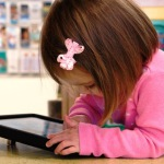 Young girl with iPad