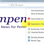 RSS feeds article section