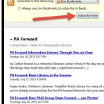RSS feeds article sectionb