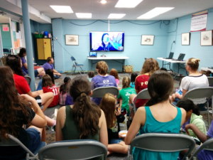 Technigals watching a live screen presenation