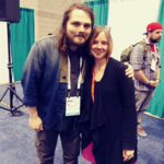 Mary Glendening with Gerard Way (left)