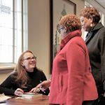 Hillary Jordan meeting patrons