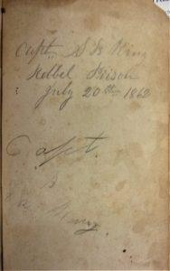 Pencilled autograph