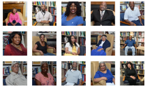 This is a photo collage of nine portraits of African Americans.