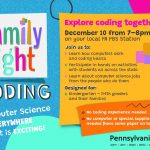 This is a flier for Pennsylvania PBS Family Coding Night event.